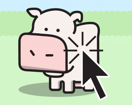 Cow Clicker - gamification parody