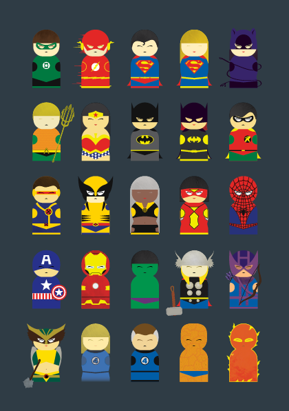 Marvel and DC mashup